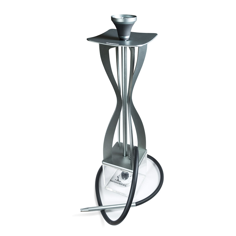 Modern Grey Aluminum Hookah with Bowl